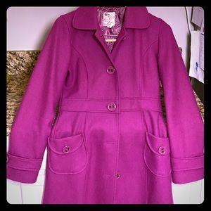 Beautiful magenta wool pea coat